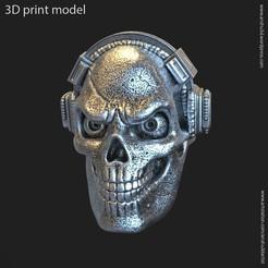 HS_vol3_ring_K2.jpg Télécharger fichier STL Crâne avec sonnerie de vol3 au casque • Design pour impression 3D, AS_3d_art