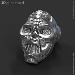 Descargar modelo 3D Anillo Mech robotizado cráneo vol1, anshu3dartist