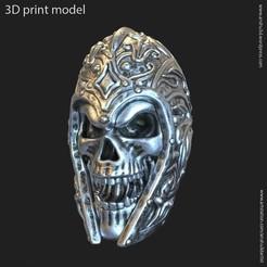 Download 3D printer designs warrior skull vol1 pendant, AS_3d_art