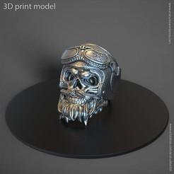 SBHvol1_ring_B_K1(1).jpg Télécharger fichier STL casque de motard crâne vol2 anneau • Plan imprimable en 3D, AS_3d_art