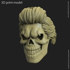3D print files Skull_bearded_vol4_Pendant, anshu3dartist