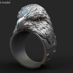 Eagle_vol1_ring_k2.jpg Download STL file Eagle vol1 ring • 3D print model, AS_3d_art
