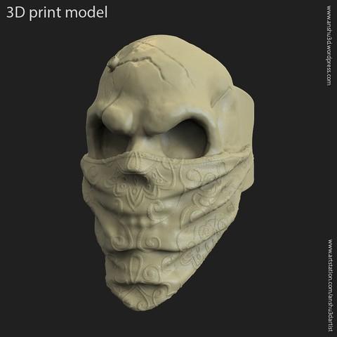 STL file Skull Gangster vol2 ring, anshu3dartist