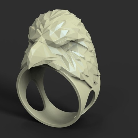 Download 3D printer designs Eagle vol3 polygonal ring, anshu3dartist