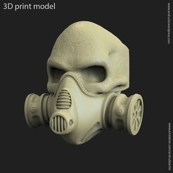 Download 3D printer designs skull with mask ring, AS_3d_art