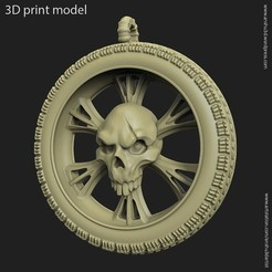 3D printer files Biker Skull vol10 pendant, anshu3dartist
