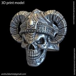 Download 3D model Demon_skull_vol4_Ring, AS_3d_art