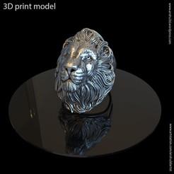 Download 3D printing templates Lion vol1 ring, AS_3d_art