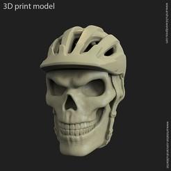 Download 3D printing files biker helmet skull vol2 pendant, anshu3dartist