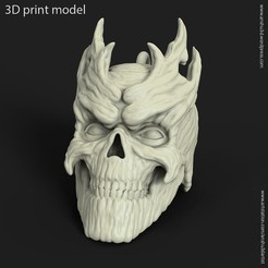 Download 3D printer designs Skull vol 7 pendant, anshu3dartist