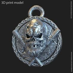 Télécharger objet 3D Crâne de gangster vol3 en pendentif, AS_3d_art