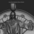 Download 3D printer files Jesus Christ vol3 Medallion pendant, anshu3dartist