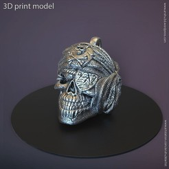 Download STL file Pirate skull pendant vol 1 3D print model, AS_3d_art