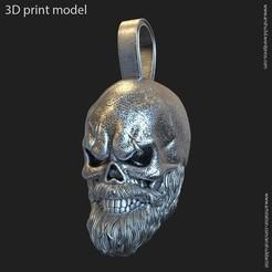 Download 3D model Skull bearded vol3 pendant, AS_3d_art
