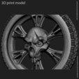 3D printer files Biker Skull vol10 pendant, anshu3dartist