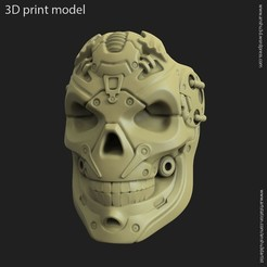 STL robotic skull vol 13 ring, anshu3dartist