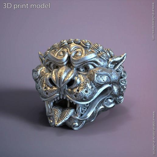Download 3D printer designs guardion lion vol1 ring, AS_3d_art