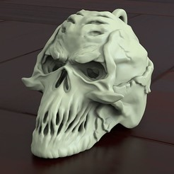 Download 3D printer templates Skull biker pendant vol4, anshu3dartist