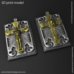 Jesus_cross_vol2_Pendant_K1.jpg Download STL file Jesus cross vol2 Pendant Jewelry • 3D printable model, AS_3d_art
