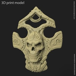 3D printing model Biker skull vol8 pendant, anshu3dartist