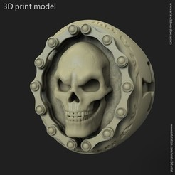 3D printing model Biker skull vol2 ring, anshu3dartist