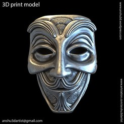 Download STL files Face mask vol1 Pendant, AS_3d_art