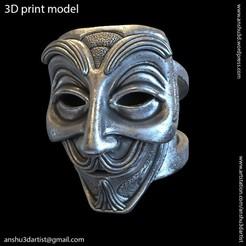 Face_mask_vol1_ring_k1.jpg Download STL file face mask vol1 ring • 3D printer model, AS_3d_art