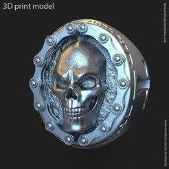 Biker_skull_vol2_ring_k2.jpg Download STL file Biker skull vol2 ring • 3D printable model, AS_3d_art