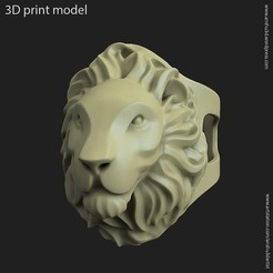 Fichier imprimante 3D Bague Lion vol2, anshu3dartist