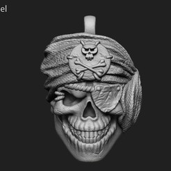 Download STL file Pirate skull pendant vol 1 3D print model, anshu3dartist
