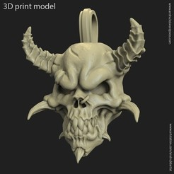 Download 3D model Demon skull vol1 pendant, anshu3dartist