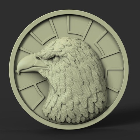 Download 3D printer files Eagle vol1 Pendant, anshu3dartist