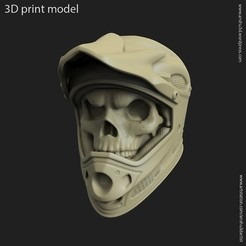3D print model biker helmet skull vol5 ring, anshu3dartist