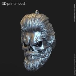 SB_vol1_K2.jpg Download STL file Skull beared vol1 Pendant • 3D print template, AS_3d_art