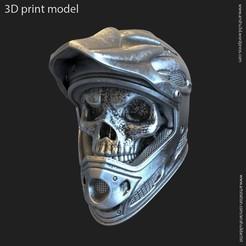 Download 3D printer templates Biker helmet skull vol5 pendant, AS_3d_art