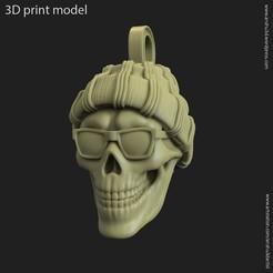 Download 3D printer model Skull gangster vol1 Pendant, anshu3dartist