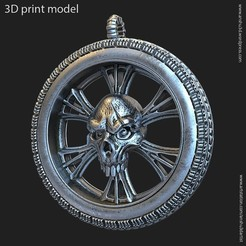 Skull_vol10_pendant_k2.jpg Download STL file Biker Skull vol10 pendant • 3D printing template, AS_3d_art