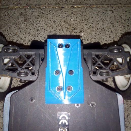 IMG_20190312_203655.jpg Télécharger fichier STL gratuit Couvre-bagages Turnigy 1/16 AWD 1/16 à l'arrière avec patin à bogie et protection pour engrenages cylindriques • Modèle imprimable en 3D, peterbroeders
