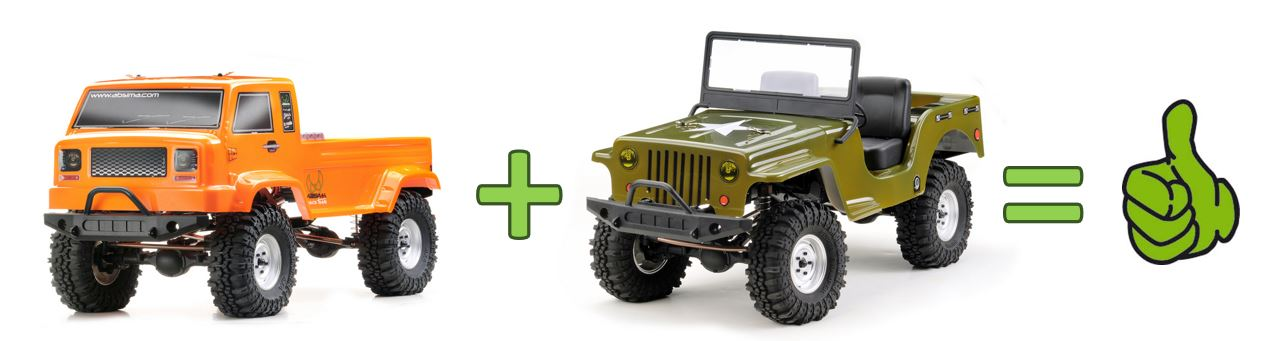 Absima_CR2_4.jpg Download free STL file Absima Crawler CR2.4 Sand RTR + additonal JEEP Body - Body Post • 3D printable object, peterbroeders