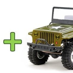 Download free STL file Absima Crawler CR2.4 Sand RTR + additonal JEEP Body - Body Post • 3D printable object, peterbroeders