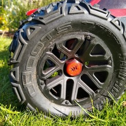 IMG_20200624_182830490_HDR.jpg Download free STL file 17mm Wheel Hex covers ( Arrma, Traxxas, Ecx and Hobbyking Logos ) • 3D printing object, peterbroeders