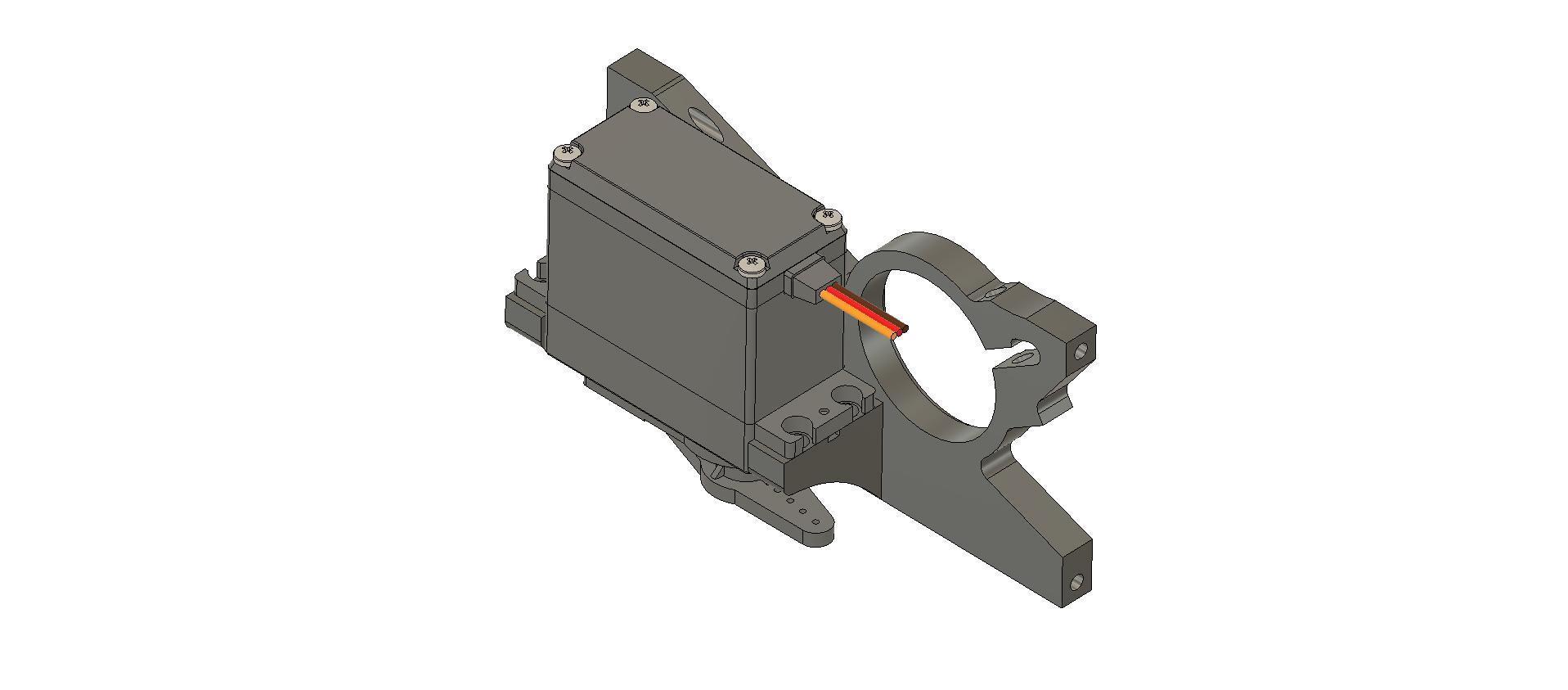 AR320261 ARAC3468 BULKHEAD MID-FRONT v12 with servo.jpg Download STL file ARRMA NERO / FAZON AR320261 ARAC3468 BULKHEAD MID-FRONT with custom servo mount • 3D printer design, peterbroeders