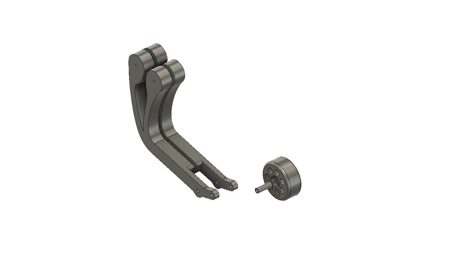 Wheelie_Bar_Assy.jpg Télécharger fichier STL gratuit Arrma Wheelie Barre à roue Typhon BLX 6S • Modèle pour imprimante 3D, peterbroeders