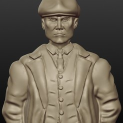 3D print model Tommy Shelby, gregorsculpt