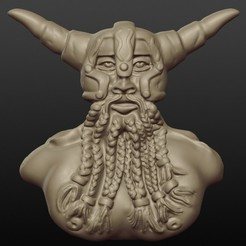 Download STL file Ragnar the bearded, gregorsculpt