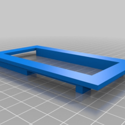 Download free 3D printing templates LCD SCREEN MOUNT 4X20, baptisterebillard