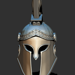 SH01.png Download STL file Spartan warrior Helmet, 300 movie, King Leonidas • Design to 3D print, Trimension