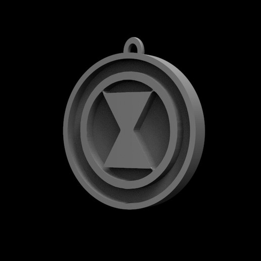 Download Stl File Black Widow Logo Model To 3d Print Cults