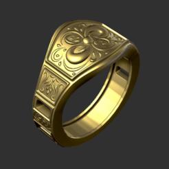 Ring 2.png Télécharger fichier STL Anneau • Plan pour impression 3D, Trimension