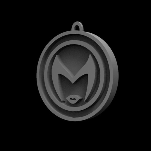 Download 3D printer files Scarlet Witch logo, Trimension